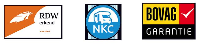 RDW Erkend Camperbedrijf, NKC-lid en Bovag Garantie bij Camper Garant in Gelderland